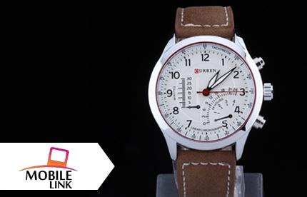 e5117bcde ¡El reloj para que Papá luzca más chulo! Paga RD$750 en vez de RD$1,500 por  un Reloj Curren en piel para caballero en Mobile Link. - megusta.do